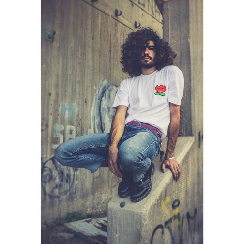 Embroidered T-shirts, Fire Flower T-Shirt,