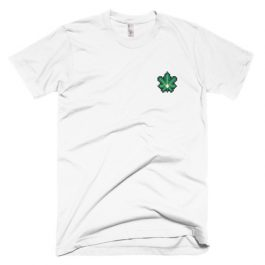Embroidered Cannabis Leaf T-Shirt
