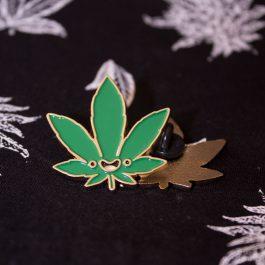 Enamel Cannabis pin