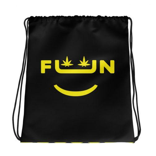 Smile Drawstring bag,