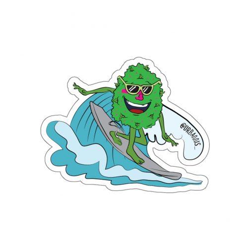 420 Surf Bud Sticker, surf bud sticker, Dope Stickers, Sticker Pack, Cannabis Sticker, Mary Jane Sticker, Weed Sticker, Marijuana Sticker, Dope, Weed Stuff, Funny Stickers, Vinyl Decal, Marijuana, Hipster Gift, Car Decal, 420 Laptop Sticker, 420 Skate Sticker