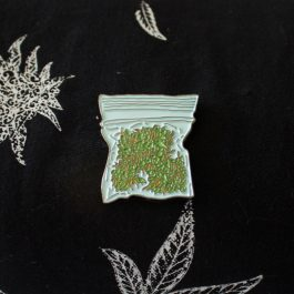 Enamel Pack OF Weed Pin